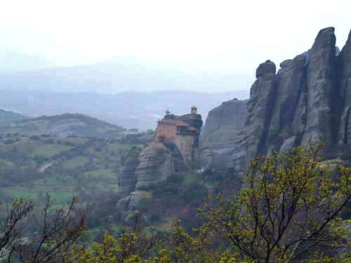Another view of Meteora and monastery