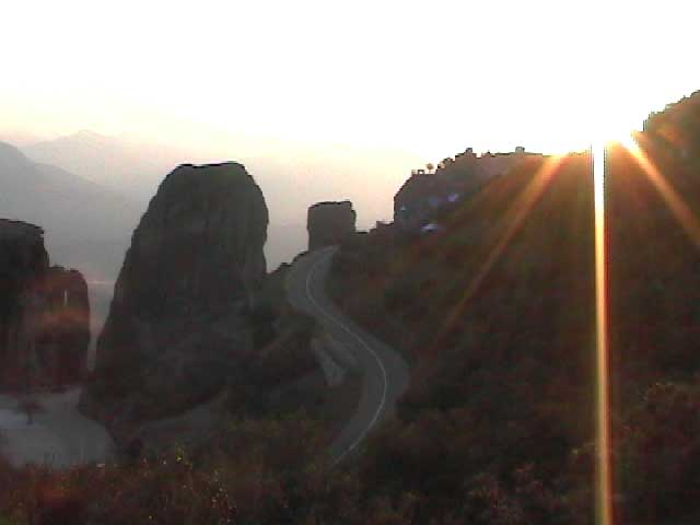 Meteora in north Greece