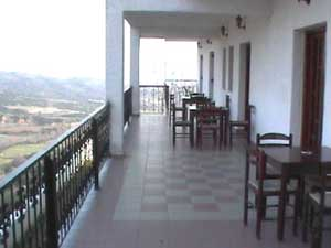 The terrace at ground level
